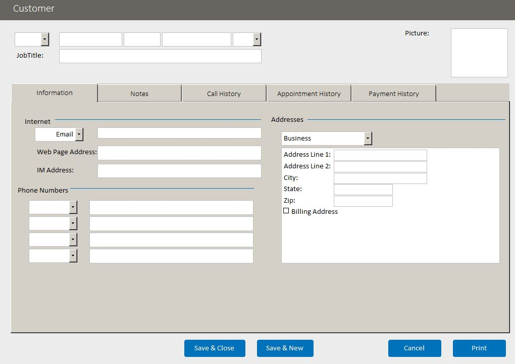 microsoft access client database template