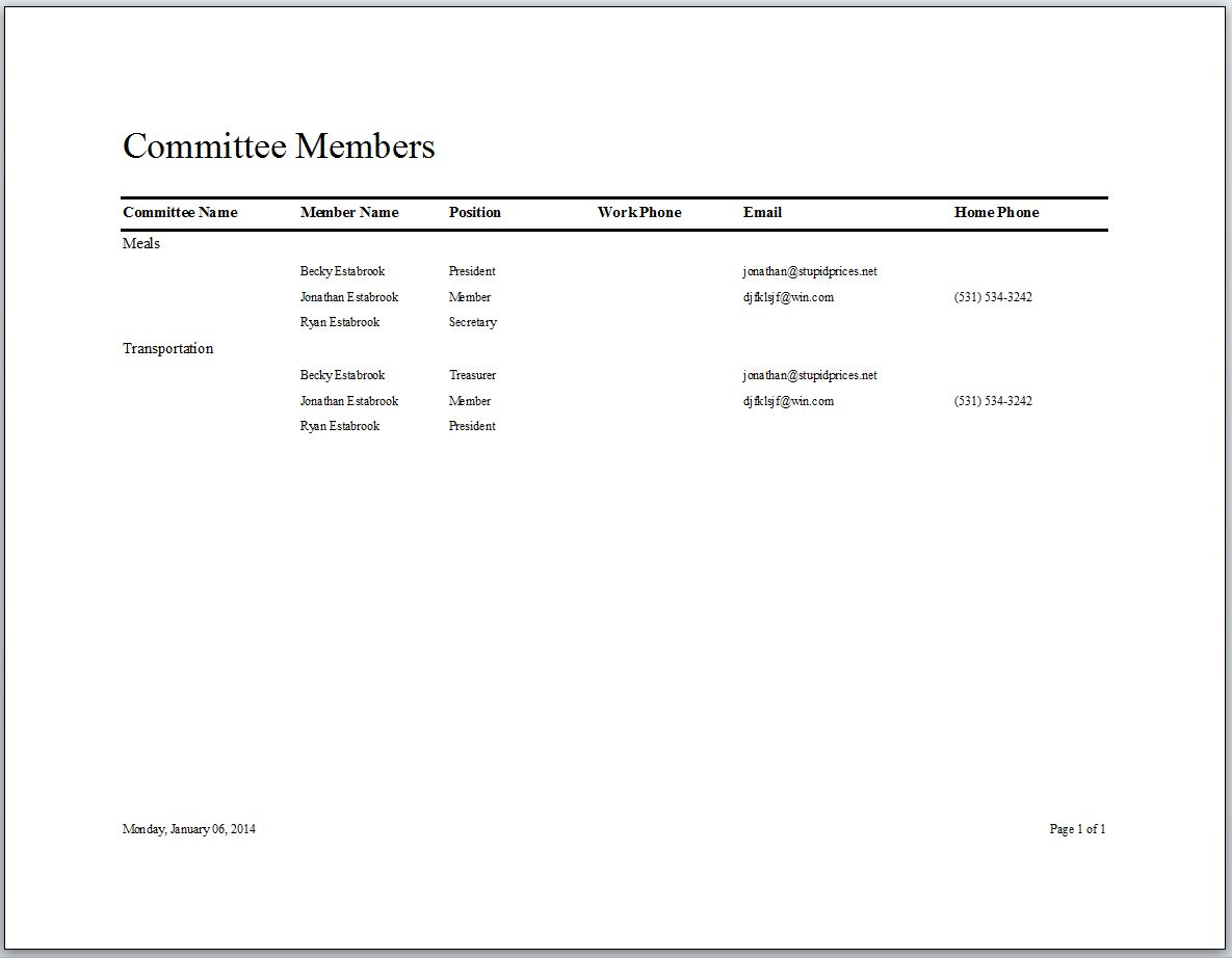 association management database template