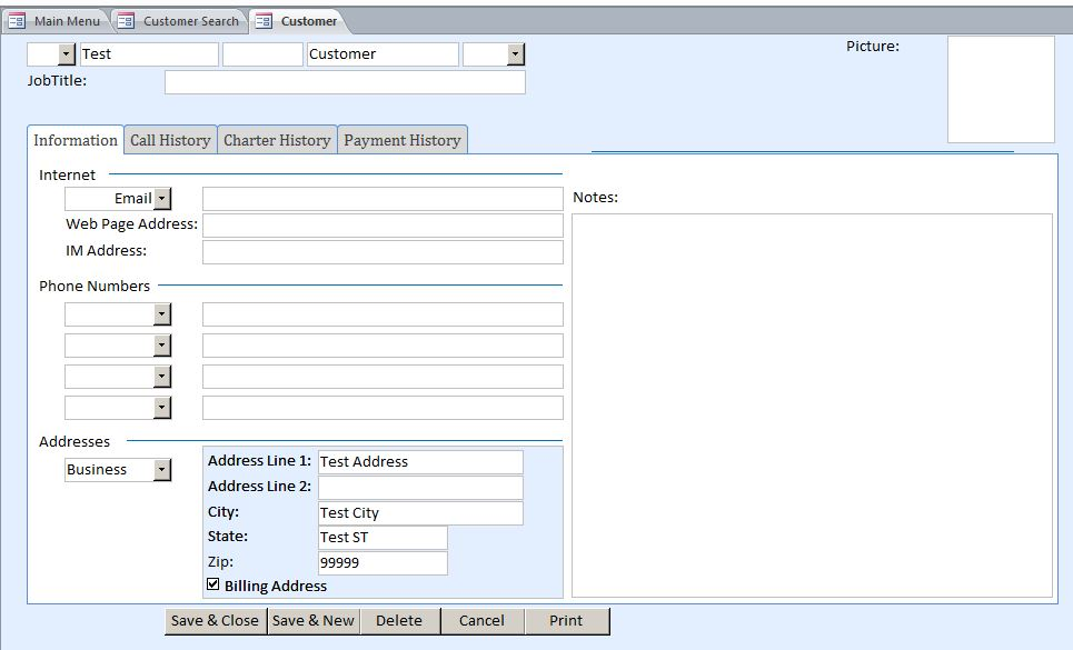 customer care charter template - microsoft access bus charter reservation database template
