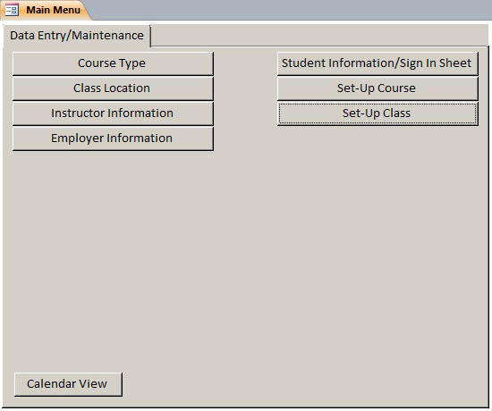 class student database template