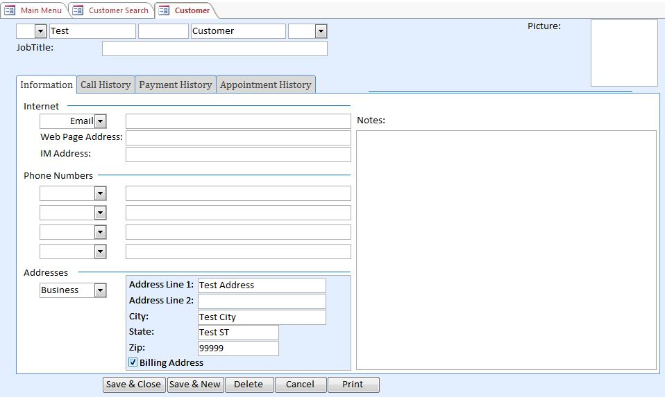 Microsoft Access Dentist Appointment Tracking Database