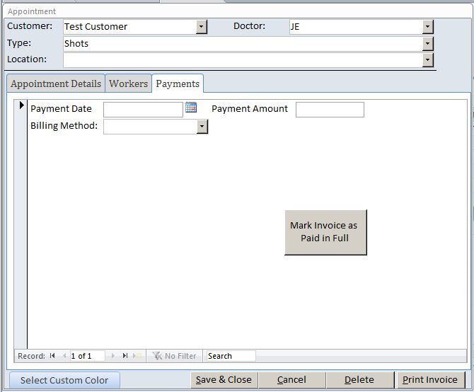 ... Access Doctor Appointment Tracking Database Template Outlook Style
