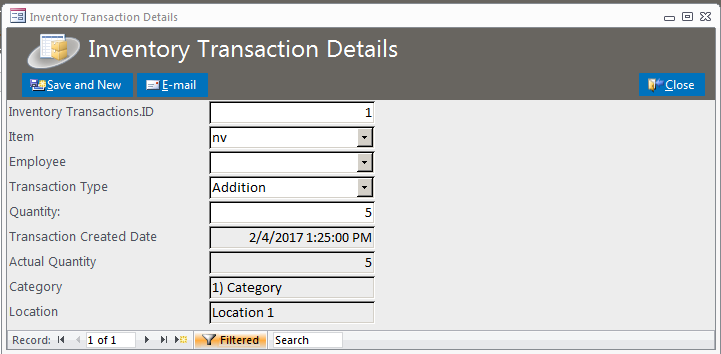 inventory database template