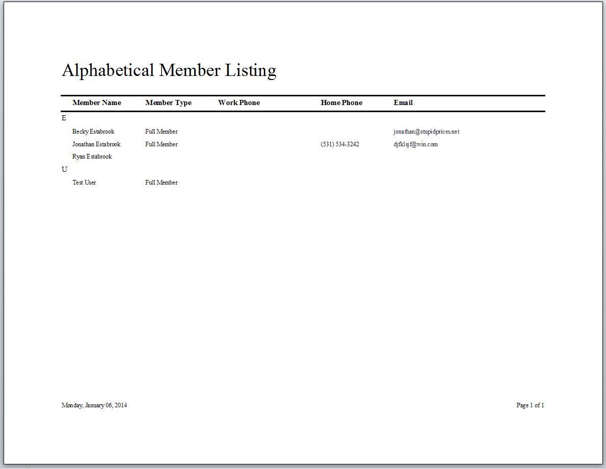 Swim Club Membership Tracking Database Template Swim