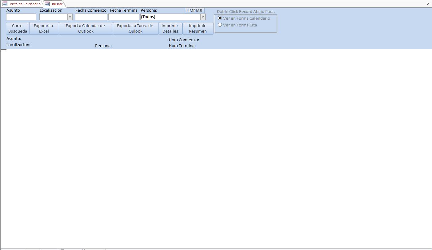 Plantilla de Bases de Datos Microsoft Access de Programación de ...