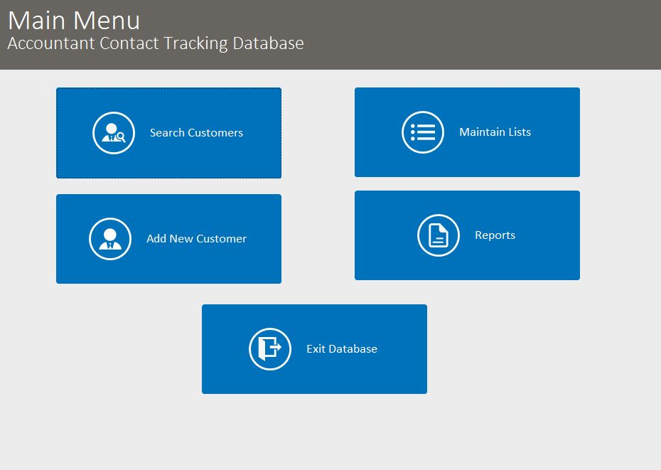 Accountant Contact Tracking Template Outlook Style | Tracking Database