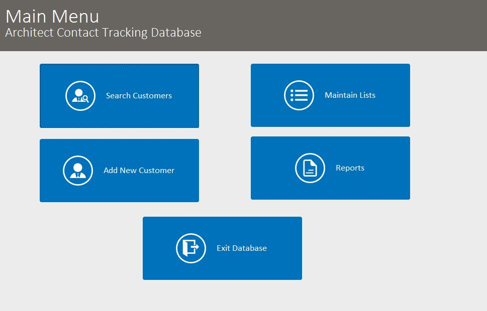 Architect Contact Tracking Template Outlook Style | Contact Tracking Database