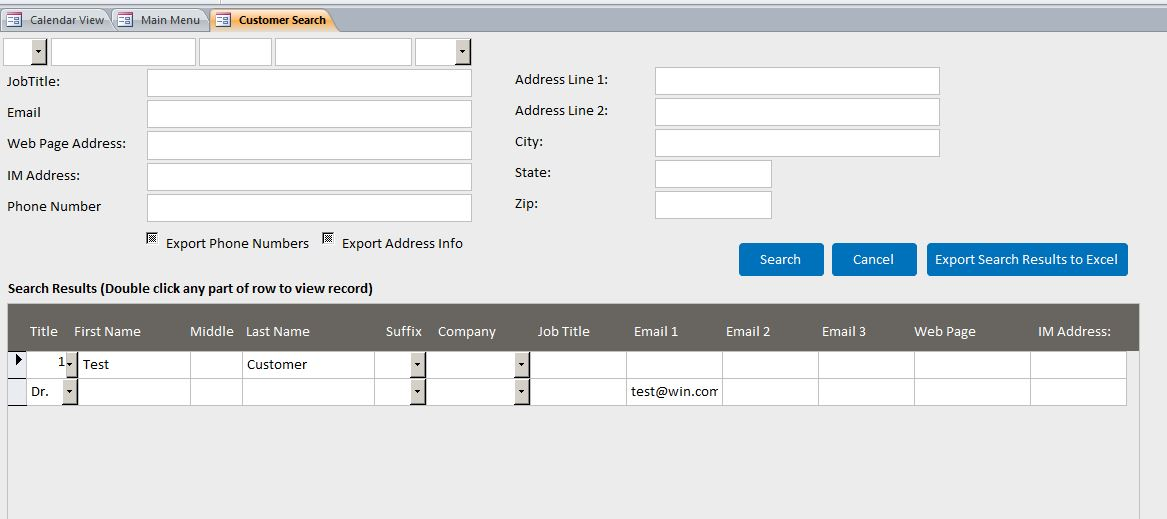 architect contact tracking template outlook style