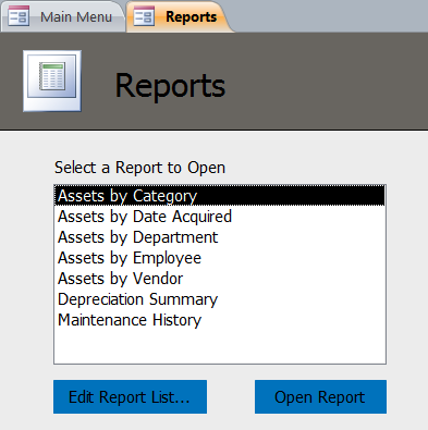 Asset Tracking Database Template | Asset Tracking Software