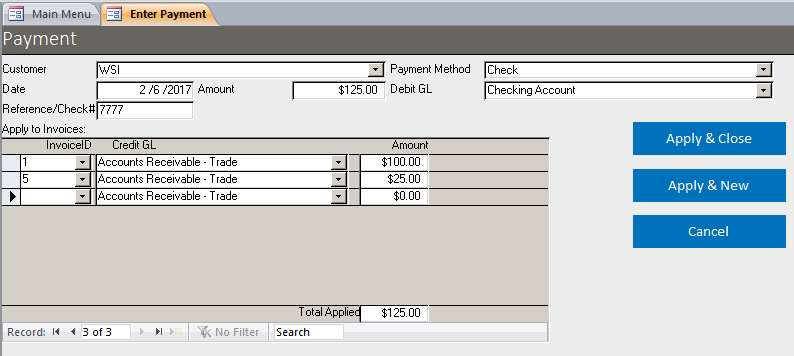 Microsoft Access Basic Business Invoicing with Accounts Receivable ...