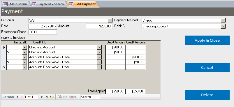 Basic Business Invoicing with Accounts Receivable Template Database | A/R Template