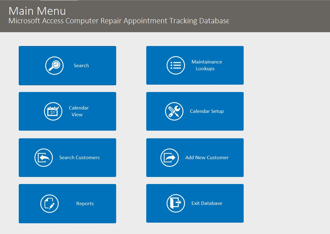 Computer Repair Appointment Tracking Template | Appointment Database