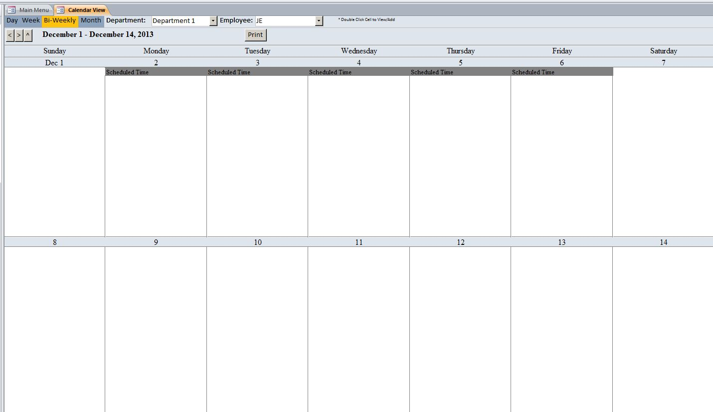 Contractor Scheduling Database Template | Scheduling Database