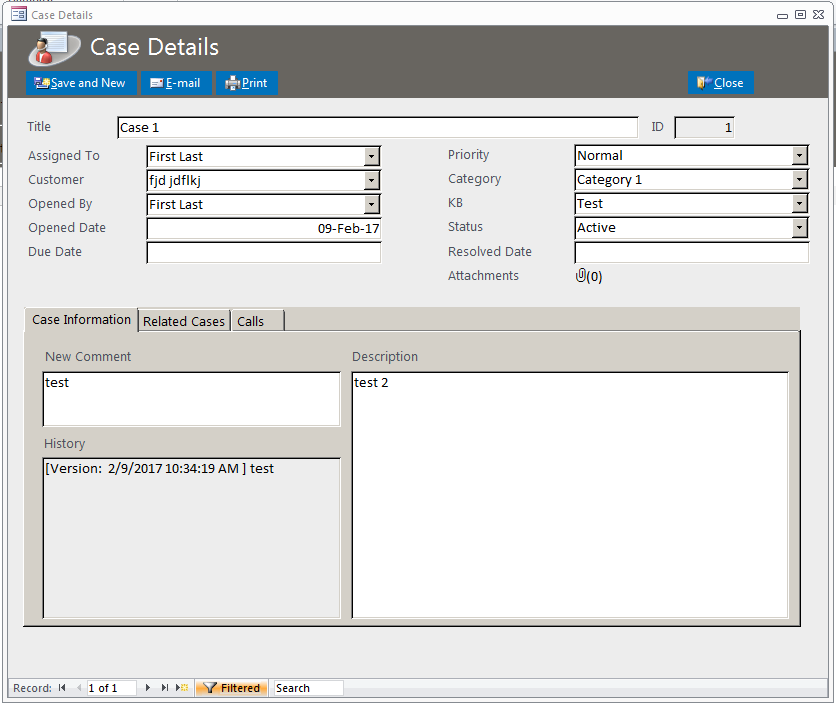 microsoft access customer database