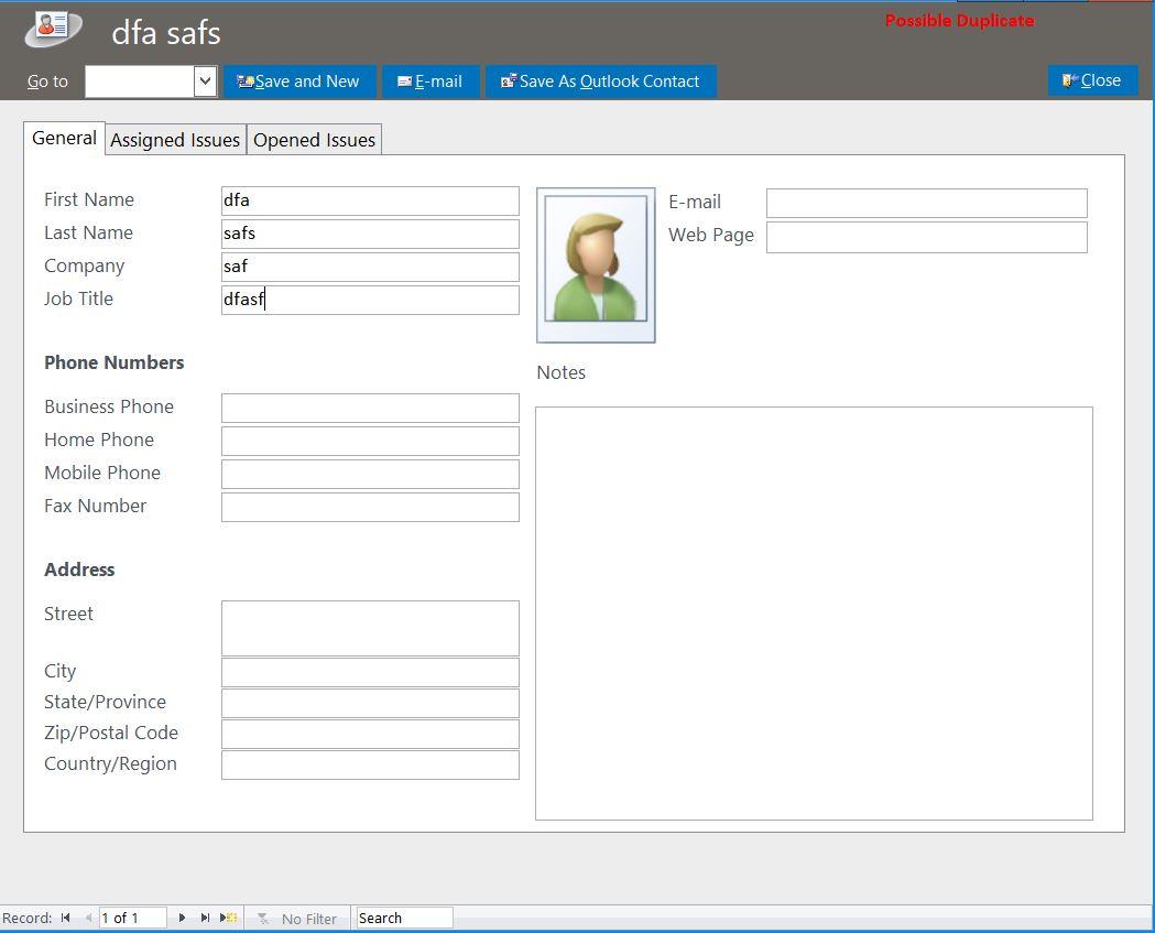 help desk database template