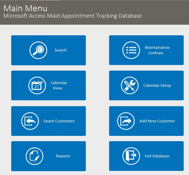 Microsoft Access Electrician Appointment Tracking Database