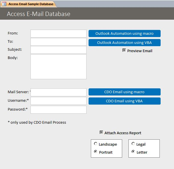 Microsoft Access Email