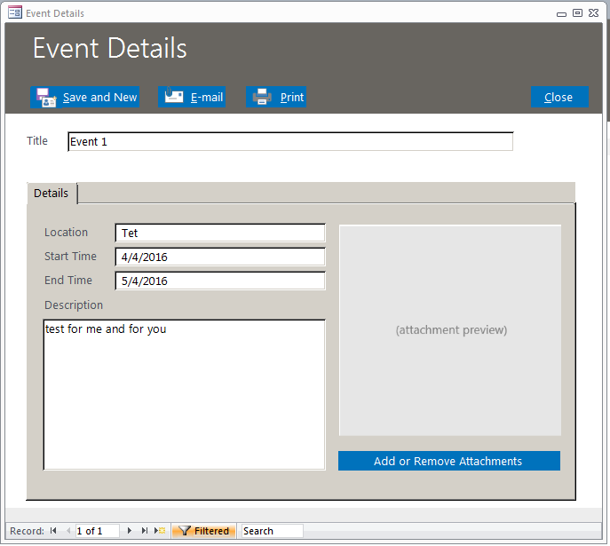 Event Management Database Template | Event Tracking Database