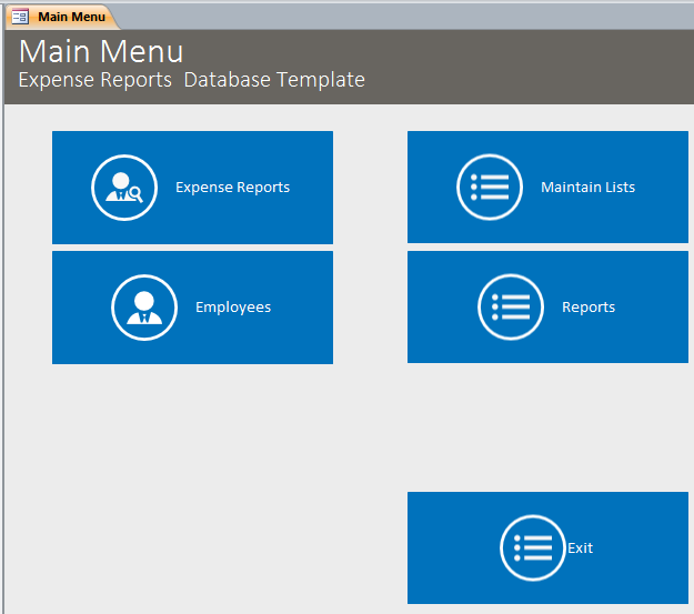 expense reports database template