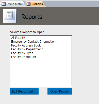 Faculty Template | Faculty Database