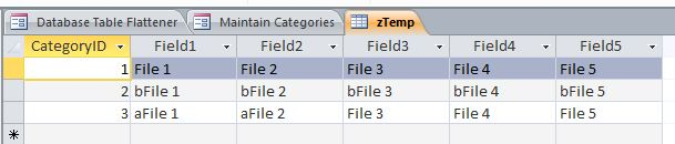 Table Flattener Template | Table Flattener Database