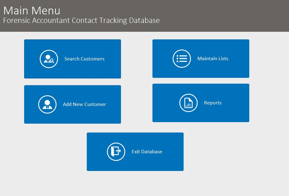 Forensic Accountant Contact Tracking Template Outlook Style | Contact Tracking Database