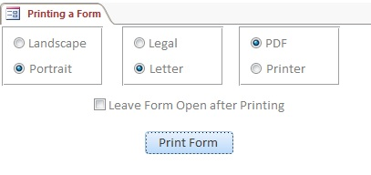 Microsoft Access Form to Printer or PDF | Microsoft Access Print