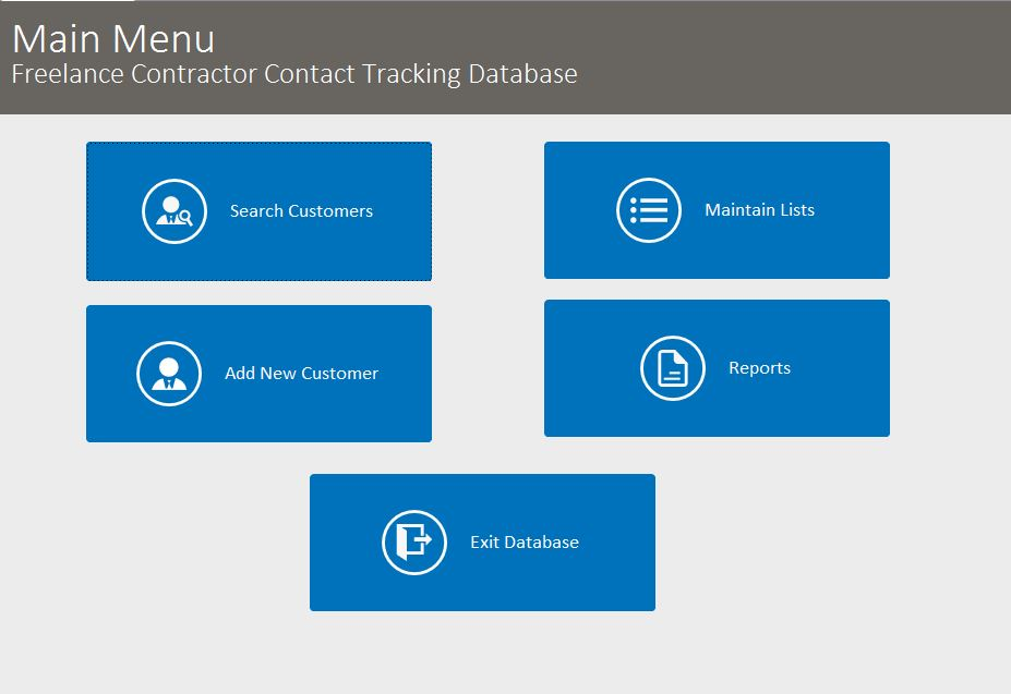 Freelance Contractor Contact Tracking Template Outlook Style | Contact Tracking Database