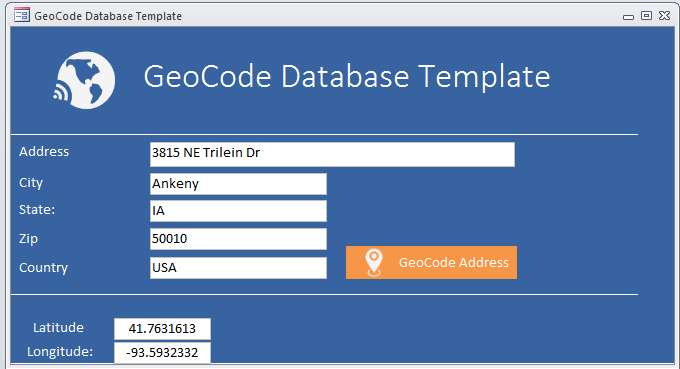 Geocode Database Template | Geocoding Database