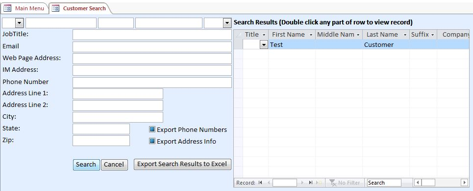 Golf Instructor Contact Tracking Template Outlook Style | Contact Tracking Database