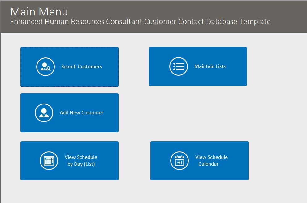 HR Consultant Enhanced Contact Template | Contact Database