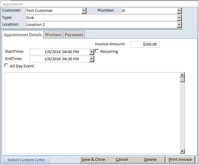 microsoft access hairdresser contact tracking database