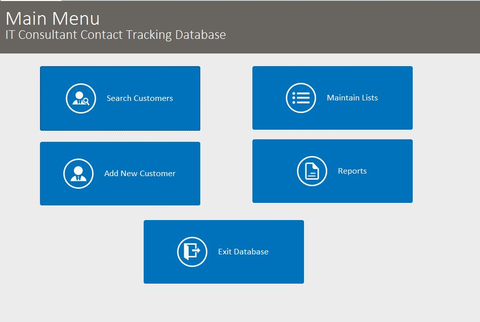 IT Consultant Contact Tracking Template Outlook Style | Contact Database