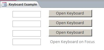 Microsoft Access Keyboard | Custom Popup Keyboard
