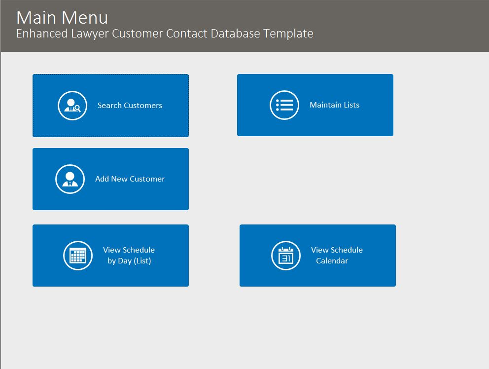 Lawyer Enhanced Contact Template | Contact Database