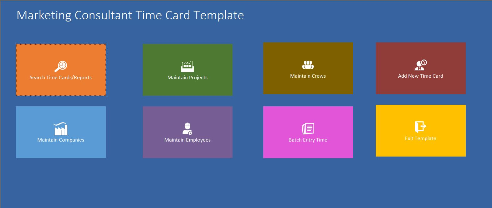 Marketing Consultant Time Card Template | Time Card Database