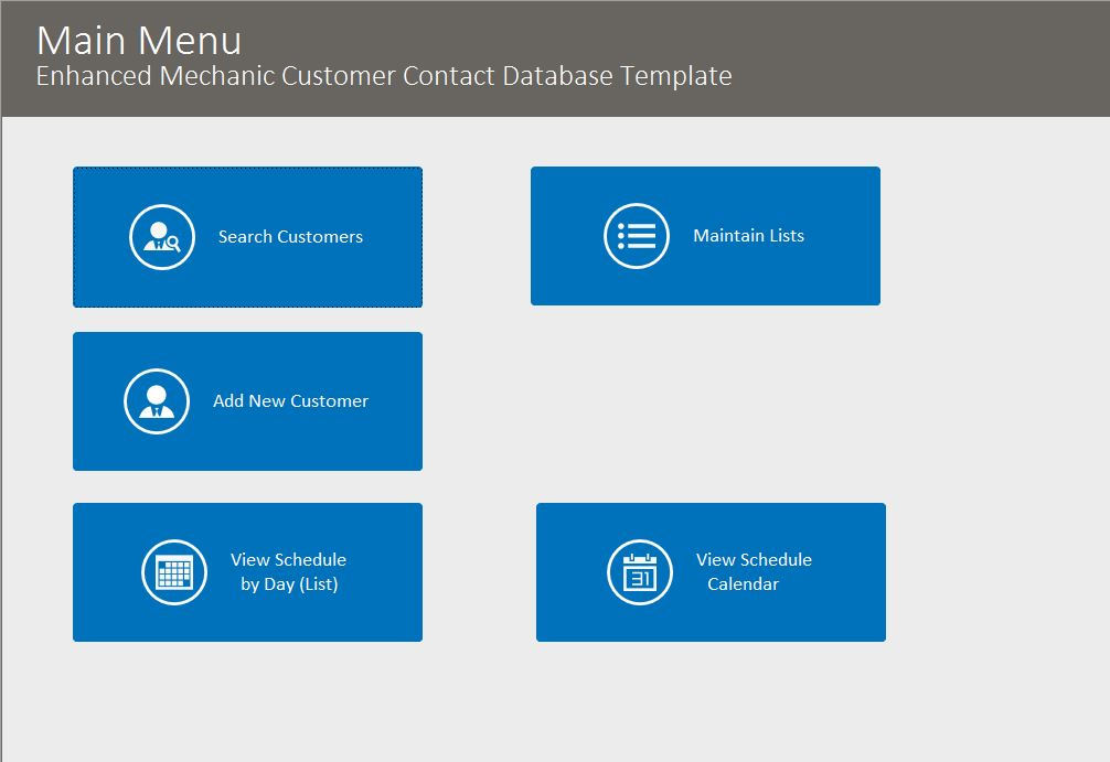 Mechanic Enhanced Contact Template | Contact Database