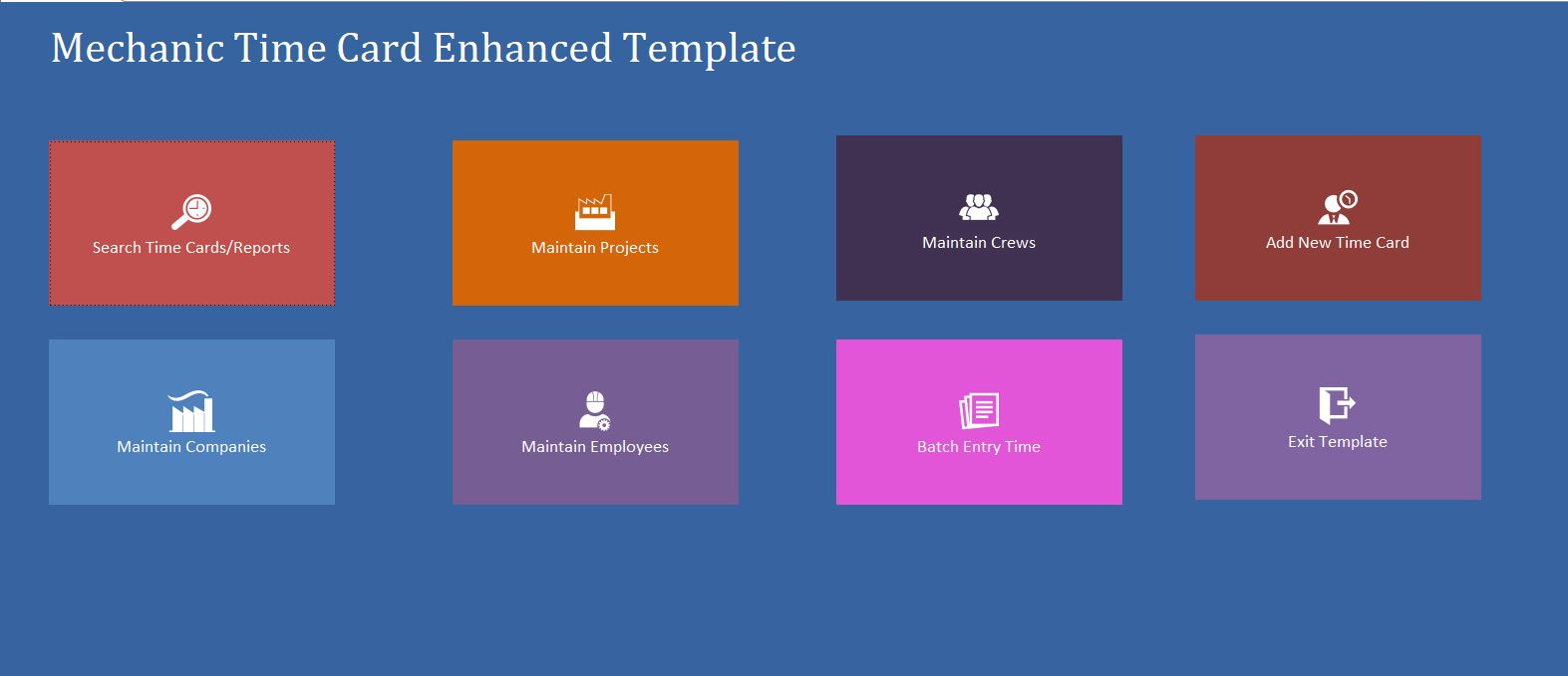 Enhanced Mechanic Consultant Time Card Template | Time Card Database