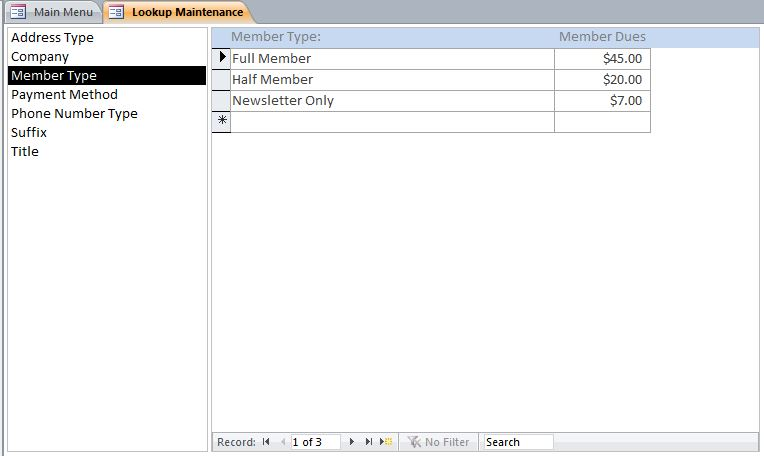 Membership Tracking Database with Calendar | Membership Database