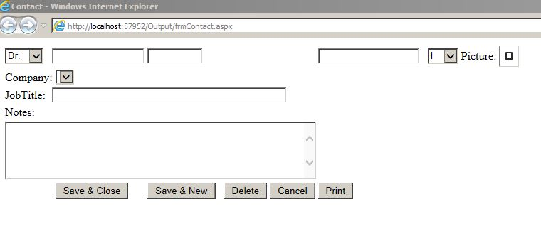 Microsoft Access Form to ASP NET Form Template | Form Database