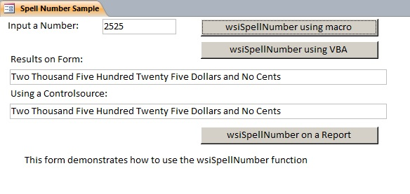 Number to Words | Microsoft Access Sample Code