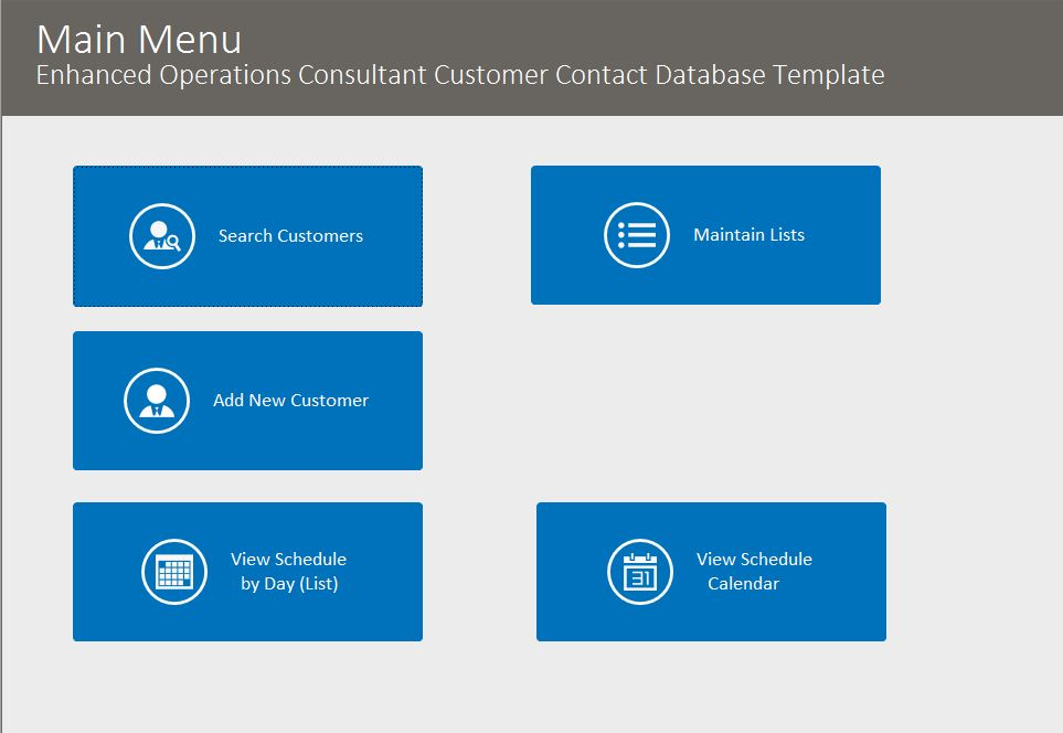 Operations Consultant Enhanced Contact Template | Contact Database