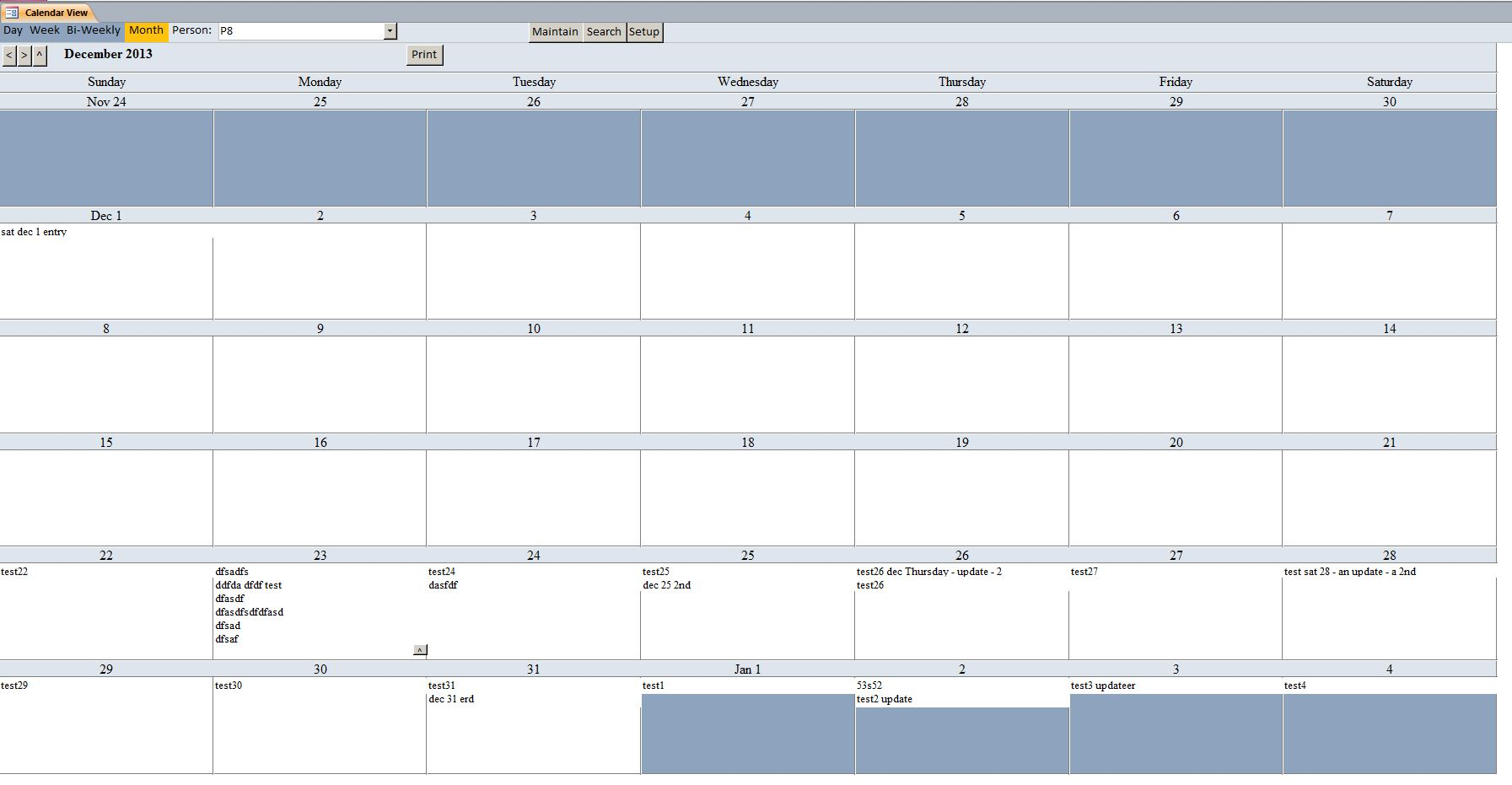 basic microsoft access calendar scheduling database template. Black Bedroom Furniture Sets. Home Design Ideas
