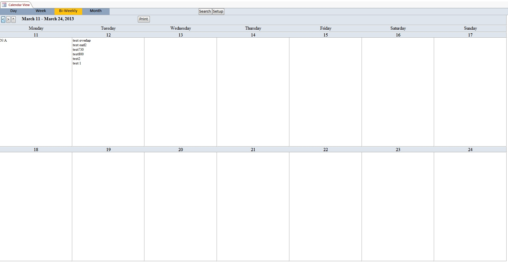 Microsoft Access Calendar Scheduling Database Template