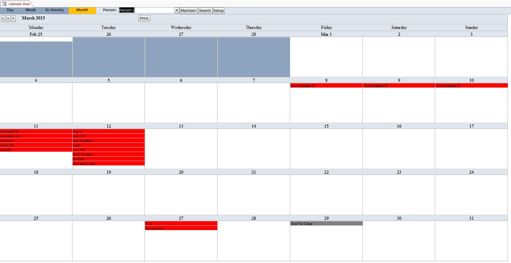 Human Resources Consultant Appointment Tracking Template Outlook Style | Appointment Database