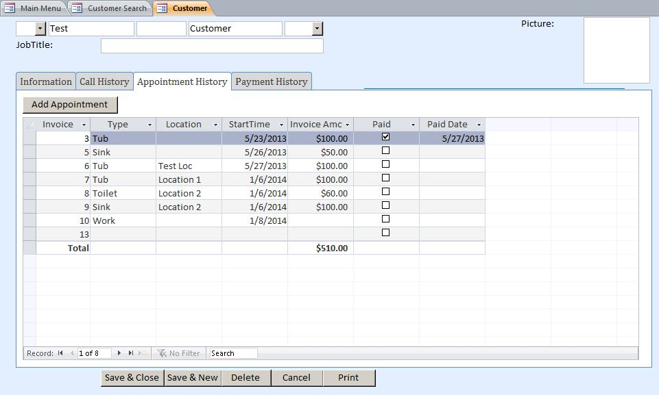 Personal Accountant Contact Tracking Database Template | Contact Database