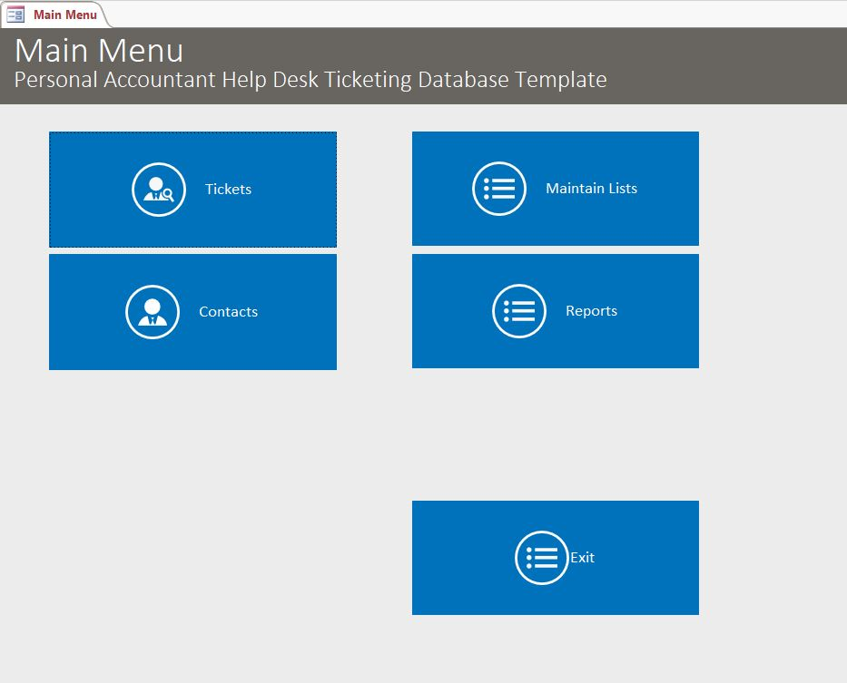 ms access ticket tracking database