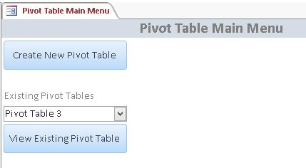 microsoft access pivot table database template