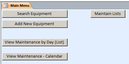 Plumbing Equipment Maintenance Log Tracking Template | Equipment Database
