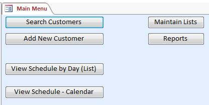 Plumbing Appointment Tracking Database Template | Appointment Database